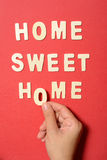 Home Sweet Home Text Stock Photos