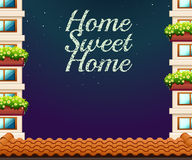 Home sweet home theme at night Stock Photo