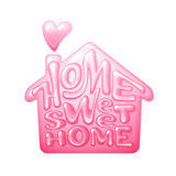Home sweet home. Vector lettring with house shape vector illustration