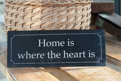 Home sweet home where the heart is Stock Photos
