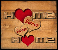 Home Sweet Home - Wooden Wall Royalty Free Stock Photos