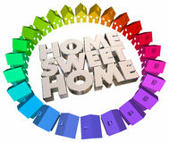 Home Sweet Houses Welcome Back Real Estate Words Royalty Free Stock Image