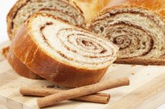 Home sweet rolls with cinnamon Royalty Free Stock Image