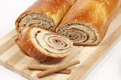 Home sweet rolls with cinnamon Royalty Free Stock Images