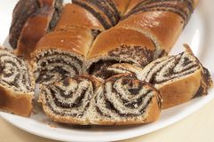Home sweet rolls with poppyseeds Stock Image