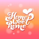 Home sweet home. Typographic vector design for greeting card, invitation card, background, lettering composition. Stock Photos