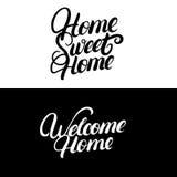 home sweet witamy w domu Obraz Stock