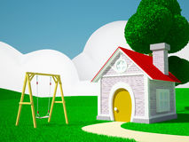 Home with swing Stock Images