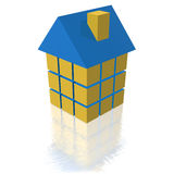 Home symbol. 3d absract home symbol or icon royalty free illustration