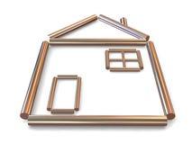 home symbol royaltyfri illustrationer