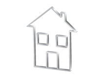 Home symbol 3d Royalty Free Stock Image