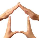 home symbol Arkivfoton