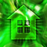 Home Symbol. Green home symbol conceptual illustration Stock Images