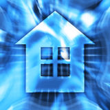 Home Symbol. Blue home symbol conceptual illustration Stock Photography