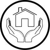 home symbol Royaltyfri Foto
