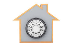 Home Symbol with Bank Pad Door. On a white background Stock Photo