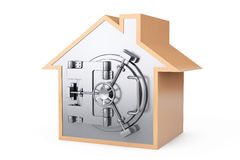 Home Symbol with Bank Safe Door. On a white background Stock Photo