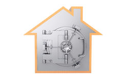 Home Symbol with Bank Safe Door Stock Photos