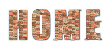 Home symbol brick pattern alphabet Stock Images