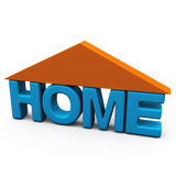 Home symbol, 3d Stock Photo