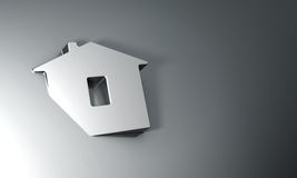 Home symbol on dark grey background Stock Images