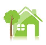 home symbol för eco vektor illustrationer