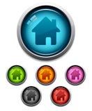 home symbol för knapp Arkivbilder