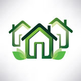 Home symbol, green village concept Stock Photography