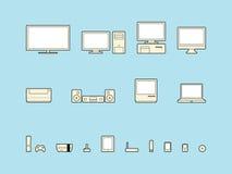 home symboler för elektronik Arkivfoto