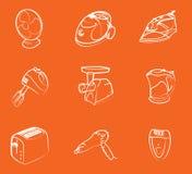 home symboler för elektronik stock illustrationer
