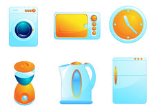 home symboler för utrustning Arkivbilder