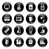 home symboler för utrustning royaltyfri illustrationer