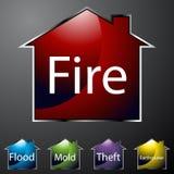 home symbolsförsäkring Arkivbilder