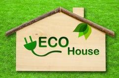 home symbolsvektor för eco Royaltyfri Bild