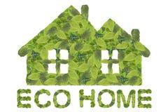 home symbolsvektor för eco Royaltyfri Foto