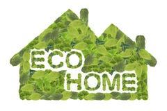 home symbolsvektor för eco Arkivfoton