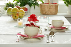 Home table setting. Kitchen appliance Royalty Free Stock Photo