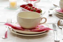 Home table setting. Kitchen appliance Stock Photo