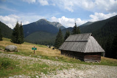 The home in Tatry mountains Royalty Free Stock Photo