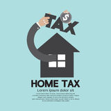 Home Tax The Real Estate Tax Concept. Vector Illustration Royalty Free Stock Photography