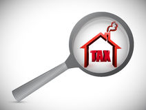 Home tax review investigation illustration Stock Photo