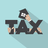 Home Tax Typography Design. Vector Illustration Royalty Free Stock Photography
