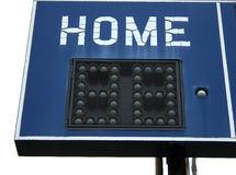 Home Team sign. A blue scoreboard with the word Home Royalty Free Stock Photo