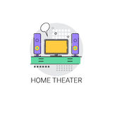 Home Teater Audio System TV Devices Icon Royalty Free Stock Photos