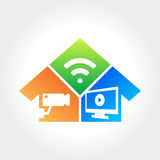 Home Technology. Creative Design Stock Image