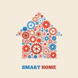 Home technology. Smart home technology concept symbol vector illustration Stock Images