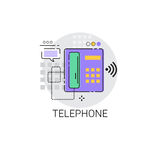 Home Telephone Line House Equipment Icon Royalty Free Stock Photography