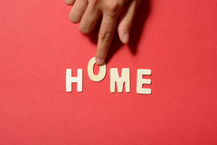 Home Text Royalty Free Stock Image