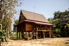 Home Thailand, wood, brown, beautiful, culturally Thailand, quie Royalty Free Stock Image