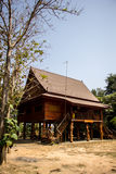 Home Thailand, wood, brown, beautiful, culturally Thailand, quie Royalty Free Stock Photography
